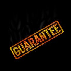 hot stamp of guarantee