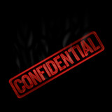 confidential hot and smoke stamp