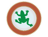 frog button endangered species poster