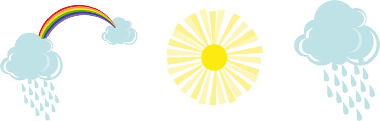 Regenbogen, Sonne, Wolke