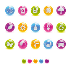 Glossy Circle Icons - Ecology