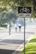 Biking in bike lane