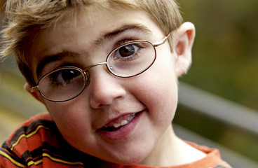 Portrait of a boy with eyeglasses