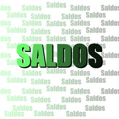 Saldos Verde Degrade