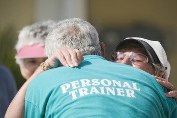 Personal trainer for senior sports