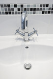 modern water mixer tap and hand wash poster