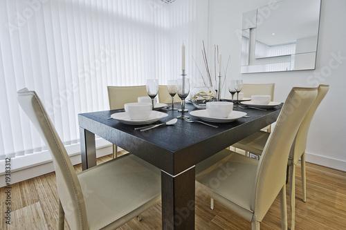 luxury dining table setup - 19383312