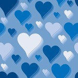 Blue love. Seamlessly wallpaper valentine with hearts