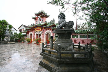 Forecourt of a Chinese Temple