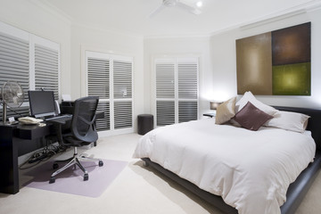 Office and spare bedroom in luxury mansion