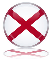 Alabama State Round Flag Web Button (Alabaman Vector Reflection)
