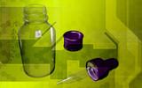 Filler and glass bottle poster
