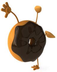 Donut au chocolat