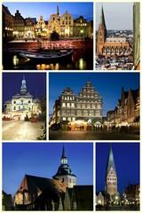 Hansestadt Lüneburg Weihnachts- und Winterkollage