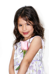 Portrait of the nice Latin American girl