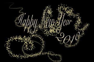 Happy new year 2010 (ciel étoilé)
