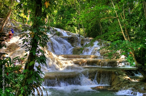 In de dag Caraïben Jamaica - Dunn River Waterfalls (Landmark)
