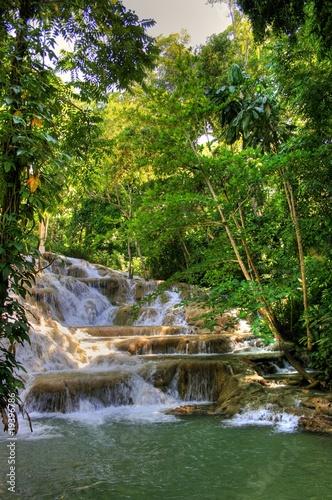 Foto op Canvas Caraïben Jamaica - Dunn River Waterfalls (Landmark)
