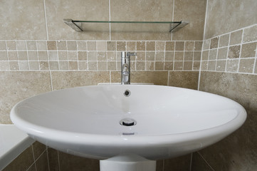 large hand wash basin