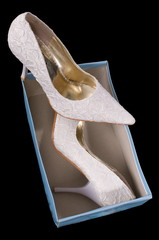 Shoes of the bride.