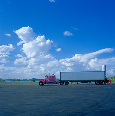 Truck in Pink und chrom, Arizona, USA