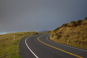 Curvy road at Haleakala National Park, Maui, Hawaii