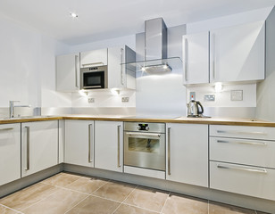 "modern ""L"" shaped kitchen counter"