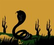 Illustration of a silhouette of a cobra