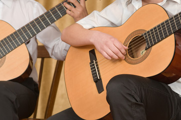 Concert of young guitarists.
