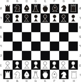 Primitive chess set poster