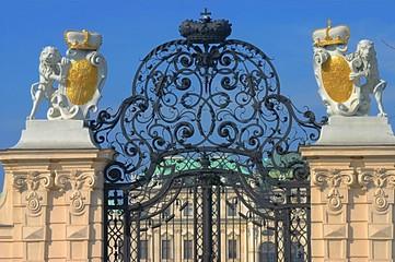 Schonbrunn Palace gates in Vienna, Austria
