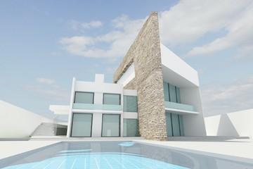 modern house render