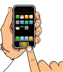 mano iphone3 teclear