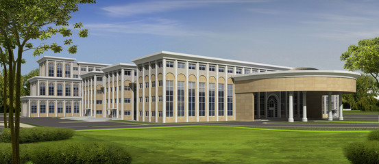 perspektive of hospital building