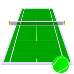tennis court green