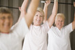 Healthy senior women