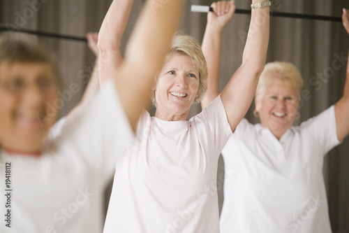 Healthy senior women