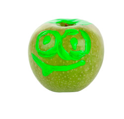draw on a green apple