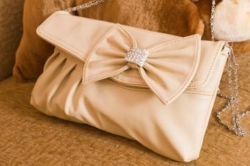 Ladies' leather handbag.