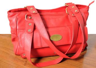 Red female bag.