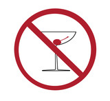 sign - no alcohol poster