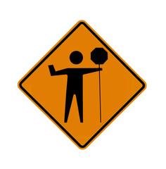 road sign - flagman