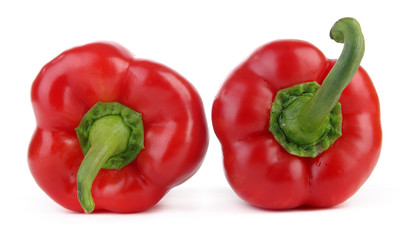 Two red peppers - up and down