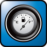 gas icon blue web button poster