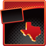 texas state red and black halftone banner poster