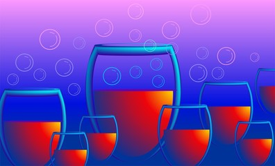 Illustration of goblets of drinks