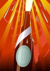 Illustration of liquor bottle