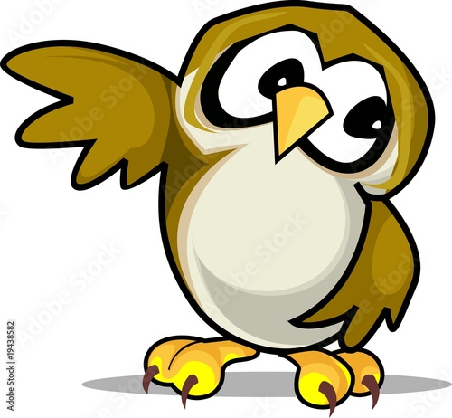 Illustration of owl sitting