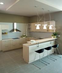 Beautiful and modern kitchen interior design.