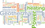 Geothermal power background concept poster